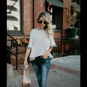 Vici Gray Knit Top